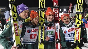 Gold im Teamvisier: Leyhe, Eisenbichler, Wellinger und Freitag.