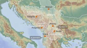 Diese sechs Balkanstaaten gelten als Kandidaten für einen EU-Beitritt.
