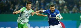Burgstaller knackt Wolfsburg: Schalke träumt weiter vom Pokalsieg