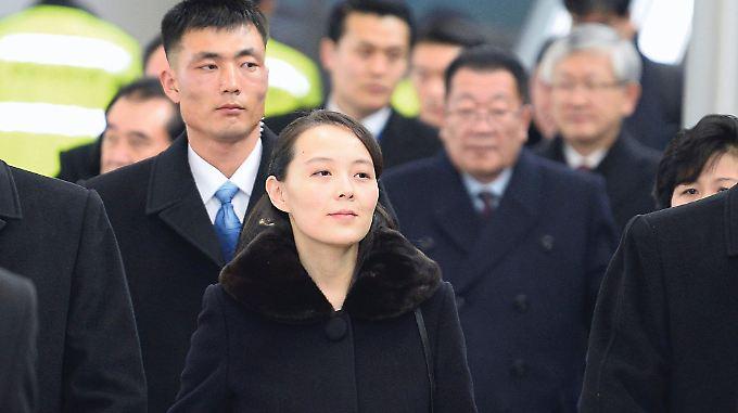 Kim Yo Jong landete auf dem Flughafen Incheon.