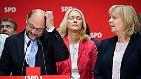 ... und Nordrhein-Westfalen bleibt die Partei deutlich hinter ihren Erwartungen zurück. In beiden Ländern werden die SPD-geführten Regierungen abgewählt. Die Schulz-Euphorie ist verflogen.