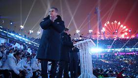 IOC-Präsident Thomas Bach wärmte sich am olympischen Pathos.