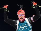Erste deutsche Olympia-Medaille: Biathlon-Königin Dahlmeier sprintet zu Gold