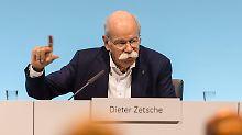 Mehr geht nicht: Daimler-Chef Zetsche erreicht Gehaltsgrenze