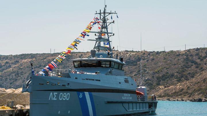 Die Gavdos, hier auf einem Foto von 2017, wurde bei einem Zusammenstoß mit einem türkischen Schiff beschädigt.