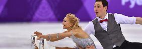 Aljona Savchenko und Bruno Massot müssen sich in der Kür strecken.