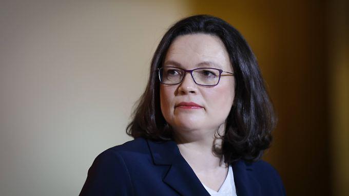 Dem Sozialministerium steht seit 2013 Andrea Nahles vor.