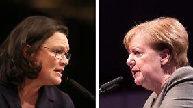 """""""Göttinnendämmerung hat begonnen"""": Nahles teilt gegen Merkel aus"""