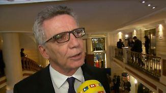 """De Maizière zur Inneren Sicherheit: """"Dezentrale Attacken bleiben eine Sorge"""""""