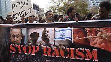 """""""Ihr seid Freunde der Nazis"""": Israel streitet über afrikanische Flüchtlinge"""