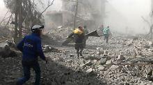 Luftangriffe der syrischen Armee: Erneut Dutzende Tote in Ost-Ghuta