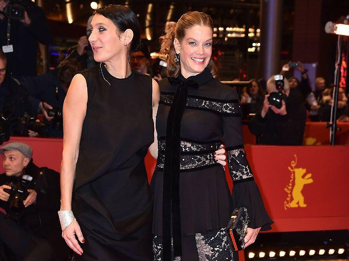 Eigentlich die Hauptattraktionen des Abends: Emily Atef und Marie Bäumer.