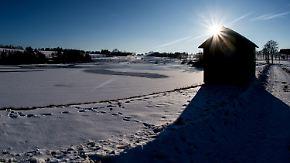 Eis und Schnee im Norden: Sonne strahlt am Sonntag bis zu zehn Stunden
