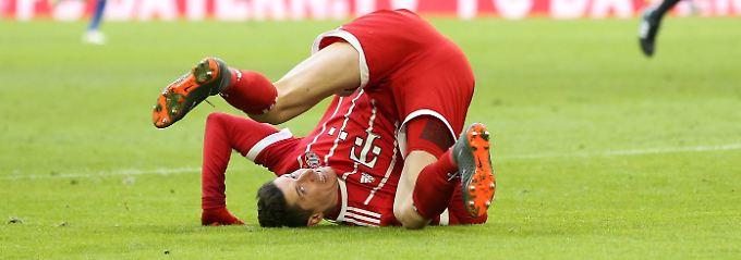 Da kann sich Robert Lewandowski auf den Kopf stellen: Gegen Hertha gelingt ihm kein Treffer.