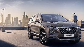 Eine von zwei Hyundai-Neuheiten in Genf: die vierte Generation des Santa Fe.