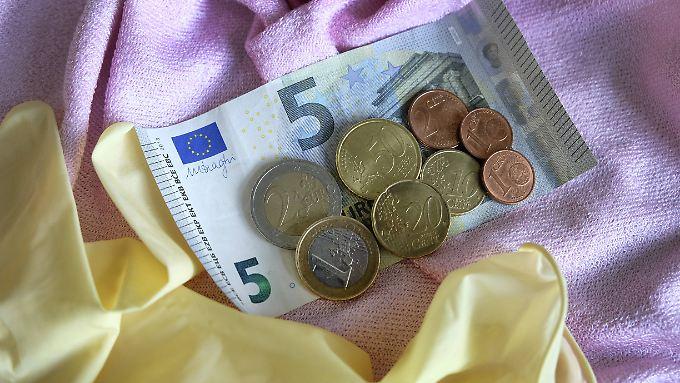 Der deutsche Mindestlohn beträgt seit Anfang 2017 8,84 Euro.