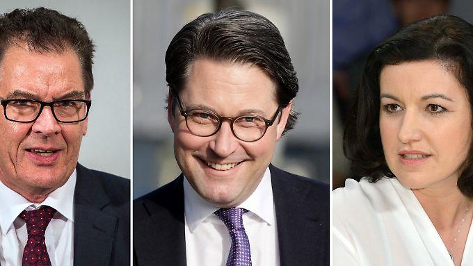 Drei der vier neuen (alten) Minister: Gerd Müller, Andreas Scheuer und Dorothee Bär.