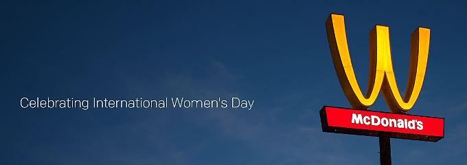 McDonald's stellt zum Internationalen Weltfrauentag sein Logo um.