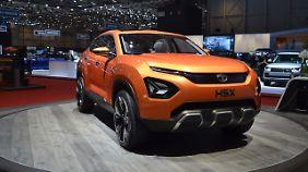 Der Tata H5X war nur am Rand der Ausstellung zu sehen, dabei ist das ein echtes Oberklasse SUV.
