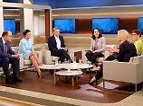 Wills Gäste, von links nach rechts: Robin Alexander, Sahra Wagenknecht, Christian Lindner, Manuela Schwesig, Annegret Kramp-Karrenbauer