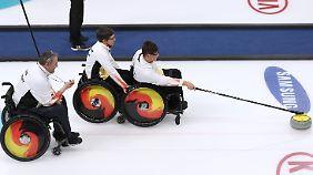 """Eine """"Wundertüte"""": Die deutschen Rollstuhlcurler."""