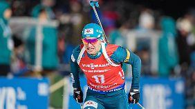 Das ukrainische Biathlon-Team (hier Serhij Semenow) wird nicht zum Weltcup-Finale nach Russland reisen.