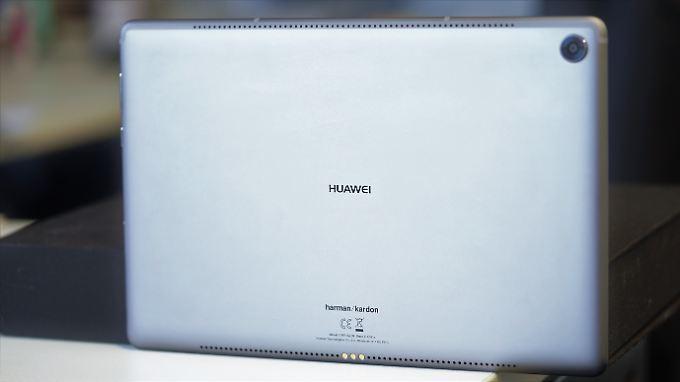 Das Huawei Mediapad M5 ist in Aluminium gekleidet.