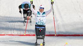 Andrea Eskau nimmt Silber aus dem Langlauf-Sprint mit.