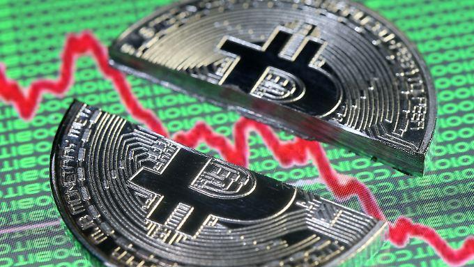 Der Bitcoin steht bei Anlegern inzwischen deutlich niedriger im Kurs.