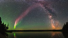"""Steve"" ähnelt Polarlichtern: Rätselhaftes Himmelsleuchten entdeckt"