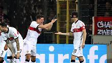 Gomez erzielt Doppelpack: VfB Stuttgart ist schon fast gerettet