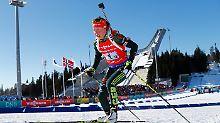 Fourcade bleibt unantastbar: Biathlon-Damen holen Staffel-Gesamtsieg