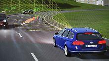 Beim Testen der Fahrassistenzsysteme im Simulator kann dann auch mal ein Känguru über die Straße hüpfen.