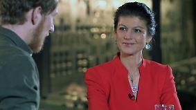 """Sahra Wagenknecht bei Klamroths Konter: """"Will die Regierung absägen, nicht meine Parteikollegen"""""""