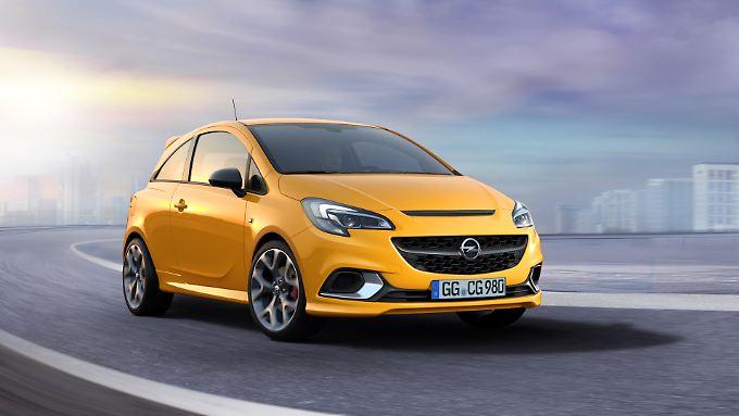 Mit verschärfter Optik fährt der Opel Corsa GSi in Zukunft vor.