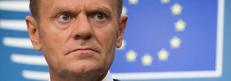 Veto von EU-Mitgliedern denkbar: Tusk zweifelt am Ja zu Brexit-Abkommen