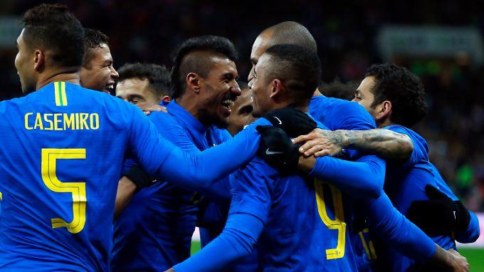 Als nächstes freuen sich die Brasilianer auf den WM-Test gegen Deutschland.