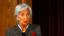 Christine Lagarde warnt die Europäer.