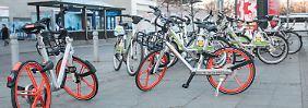 Falsch geparkt: Warum Leihräder die Innenstädte blockieren