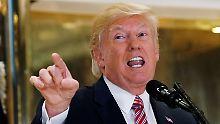"""Trump und die """"Fake News"""": Amerikaner verlieren Vertrauen in ihre Medien"""