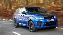 25 PS haben die Ingenieure dem Range Rover Sport SVR zusätzlich spendiert.