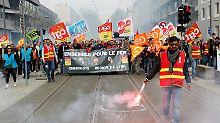 Mammut-Streik in Frankreich: Lokführer legen sich mit Macron an
