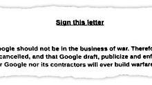 """""""Keine Geschäfte mit Krieg"""": Google-Mitarbeiter schreiben Protestbrief"""