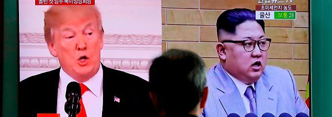 """""""Offen"""" und """"sehr ehrenhaft"""": US-Präsident Donald Trump lobt Kim Jong Un"""