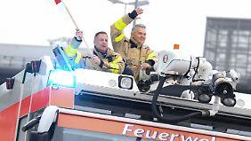 Flughafenfeuerwehr in Köln/Bonn beim Streik