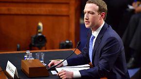 Fünfstündige Anhörung vor US-Kongress: Zuckerberg weicht kritischen Fragen aus