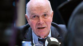 IBU-Dauerpräsient Anders Besseberg ist sich keiner Schuld bewusst.