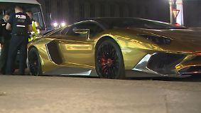 Kaum zu glauben, aber wahr: Berliner Polizei kassiert goldenen Lamborghini ein