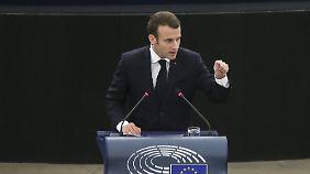 Leidenschaftlicher Appell in Straßburg: Macron ruft EU-Staaten zur Verteidigung der Demokratie auf
