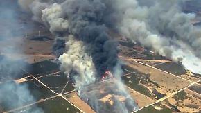 """Flammen nicht unter Kontrolle: """"Megafire"""" wütet in Oklahoma"""